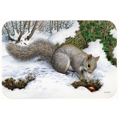 Squirrel Kitchen/Bath Mat Size: 24 W x 36 L