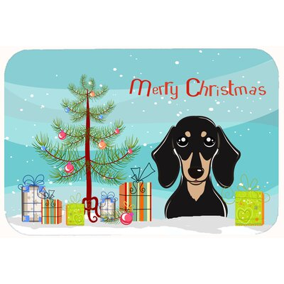 Christmas Tree and Smooth Dachshund Kitchen/Bath Mat Size: 20 W x 30 L