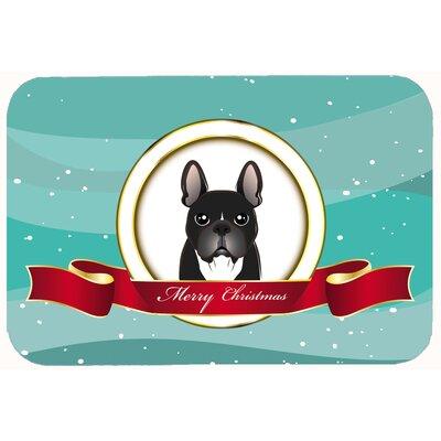 French Bulldog Merry Christmas Kitchen/Bath Mat Size: 24 W x 36 L