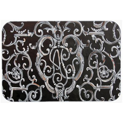 Ironwork Fence Kitchen/Bath Mat Size: 24 W x 36 L