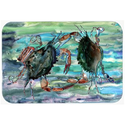 Watery Crabs Kitchen/Bath Mat Size: 24 W x 36 L