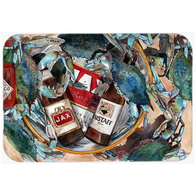 New Orleans Beers and Crabs Kitchen/Bath Mat Size: 24 W x 36 L
