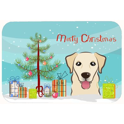 Christmas Tree and Retriever Kitchen/Bath Mat Size: 24 W x 36 L