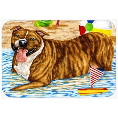 Beach Bum Staffie Kitchen/Bath Mat Size: 20 W x 30 L