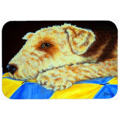Airedale Terrier Mommas Quilt Kitchen/Bath Mat Size: 20 W x 30 L