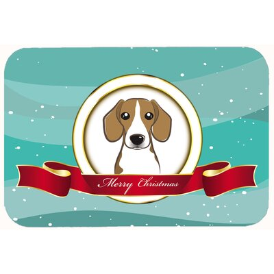 Beagle Merry Christmas Kitchen/Bath Mat Size: 24 W x 36 L