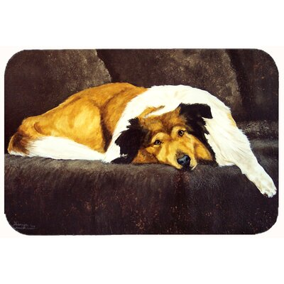 Collie by Tanya and Craig Amberson Kitchen/Bath Mat Size: 24 W x 36 L