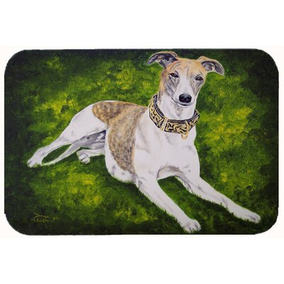 Isabella Greyhound Kitchen/Bath Mat Size: 24 W x 36 L