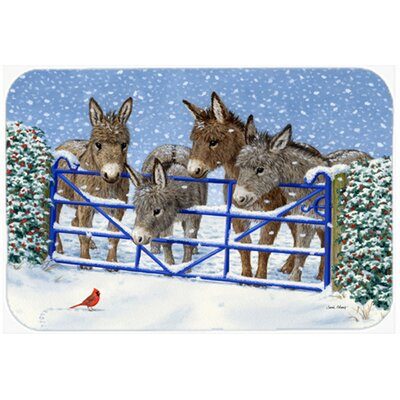 Donkeys and Cardinal Kitchen/Bath Mat Size: 20 W x 30 L