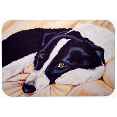 Naptime Border Collie Kitchen/Bath Mat Size: 20 W x 30 L