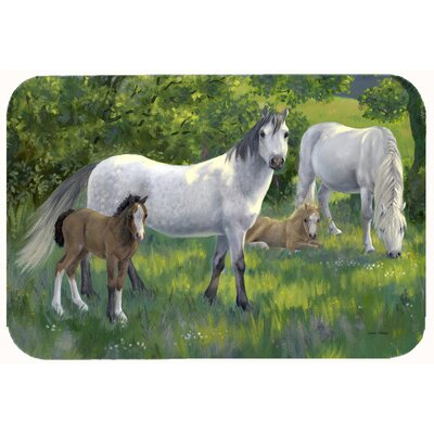 Group of Horses Kitchen/Bath Mat Size: 24 W x 36 L