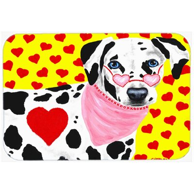 Hearts and Dalmatian Kitchen/Bath Mat Size: 20 W x 30 L