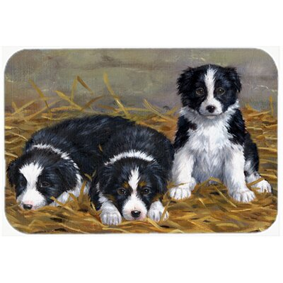 Border Collie Puppies Kitchen/Bath Mat Size: 20 W x 30 L