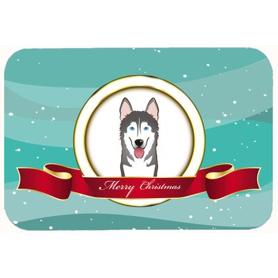 Alaskan Malamute Merry Christmas Kitchen/Bath Mat Size: 24 W x 36 L