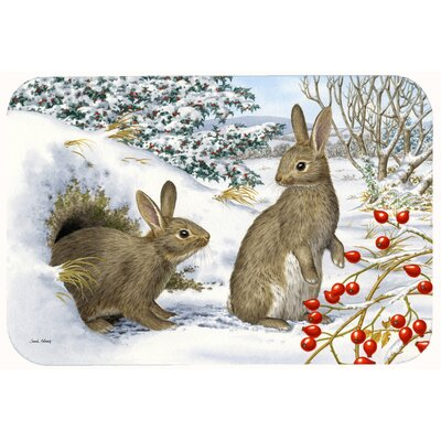 Winter Rabbits Kitchen/Bath Mat Size: 24 W x 36 L
