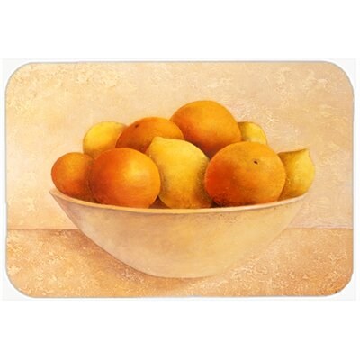 Oranges and Lemons in a Bowl Kitchen/Bath Mat Size: 24 W x 36 L