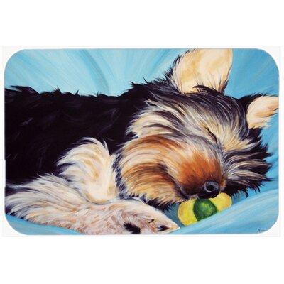 Naptime Yorkie Yorkshire Terrier Kitchen/Bath Mat Size: 20 W x 30 L