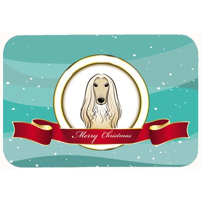 Afghan Hound Merry Christmas Kitchen/Bath Mat Size: 20 W x 30 L