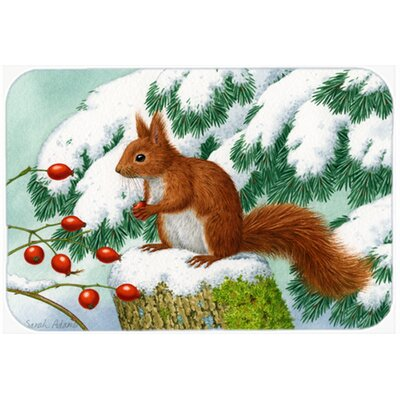 Winter Squirrel Kitchen/Bath Mat Size: 20 W x 30 L