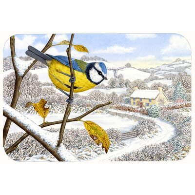 Winter Eurasian Bird Kitchen/Bath Mat Size: 24 W x 36 L