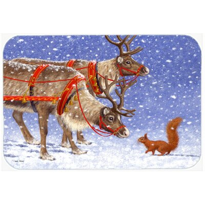 Reindeer and Squirrel Kitchen/Bath Mat Size: 20 W x 30 L