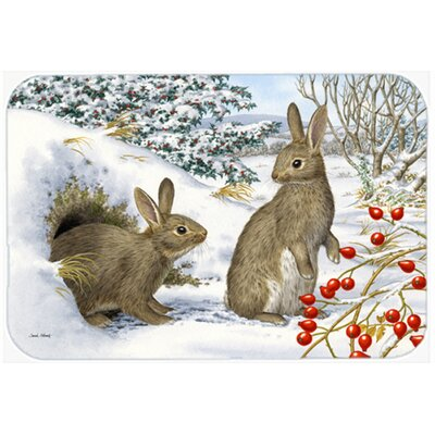 Winter Rabbits Kitchen/Bath Mat Size: 20 W x 30 L