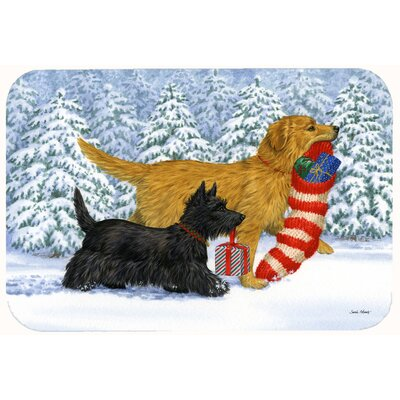 Retriever Keep Up There, Scottie! Kitchen/Bath Mat Size: 24 W x 36 L