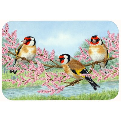European Goldfinch Kitchen/Bath Mat Size: 24 W x 36 L