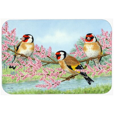 European Goldfinch Kitchen/Bath Mat Size: 20 W x 30 L