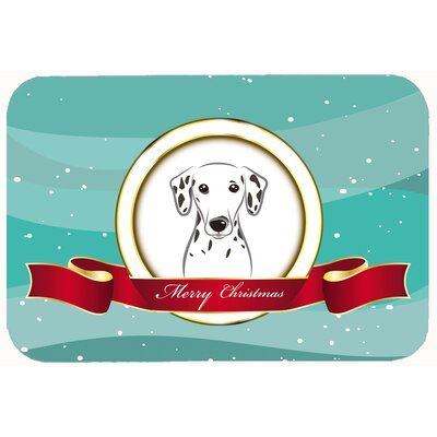 Dalmatian Merry Christmas Kitchen/Bath Mat Size: 20 W x 30 L