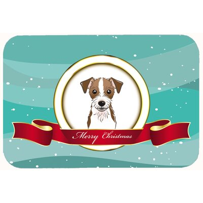 Jack Russell Terrier Merry Christmas Kitchen/Bath Mat Size: 24 W x 36 L