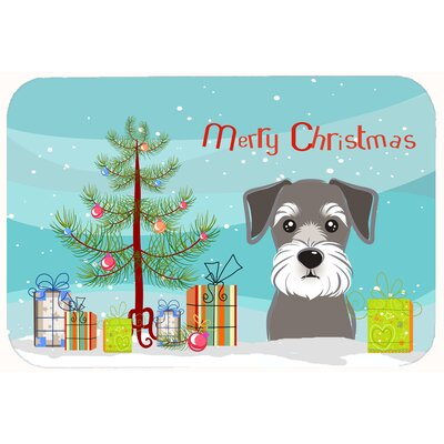 Christmas Tree and Schnauzer Kitchen/Bath Mat Size: 20 W x 30 L