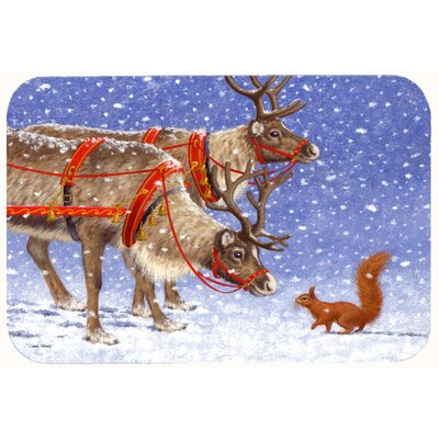 Reindeer and Squirrel Kitchen/Bath Mat Size: 24 W x 36 L