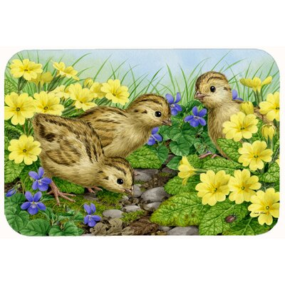 Pheasant Chicks Kitchen/Bath Mat Size: 24 W x 36 L