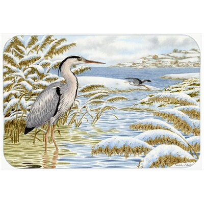 Heron by the Water Kitchen/Bath Mat Size: 20 W x 30 L