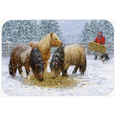 Shetland Ponies Kitchen/Bath Mat Size: 20 W x 30 L