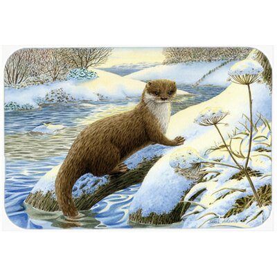 Winter Otter Kitchen/Bath Mat Size: 20 W x 30 L