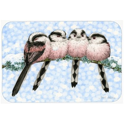 Roosting Long Tailed Birds Kitchen/Bath Mat Size: 20 W x 30 L