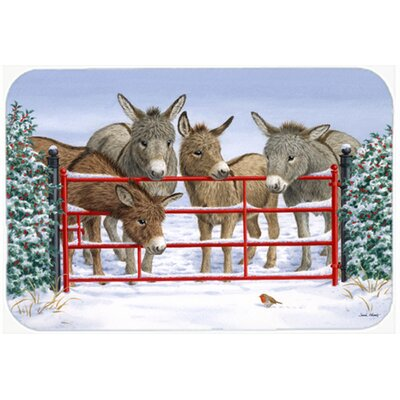Donkeys and Robin Kitchen/Bath Mat Size: 20 W x 30 L