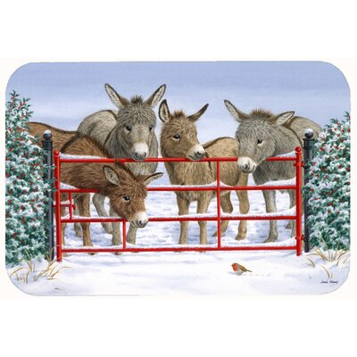Donkeys and Robin Kitchen/Bath Mat Size: 24 W x 36 L
