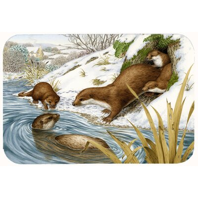 Playtime Otters Kitchen/Bath Mat Size: 24 W x 36 L