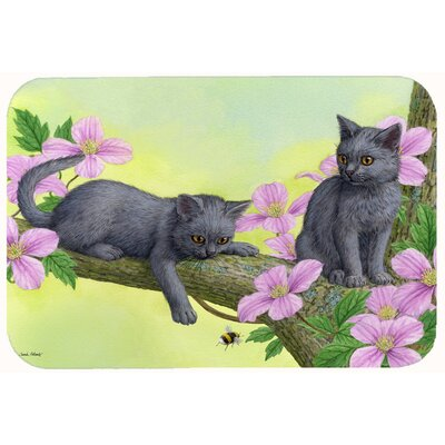 Chartruex Kittens Kitchen/Bath Mat Size: 24 W x 36 L