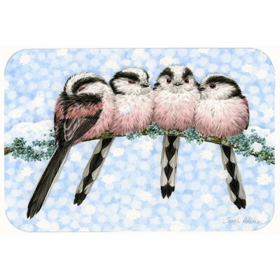 Roosting Long Tailed Birds Kitchen/Bath Mat Size: 24 W x 36 L