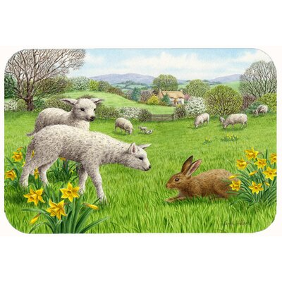 Lambs, Sheep and Rabbit Hare Kitchen/Bath Mat Size: 24 W x 36 L