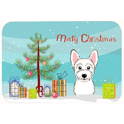 Christmas Tree and Westie Kitchen/Bath Mat Size: 20 W x 30 L