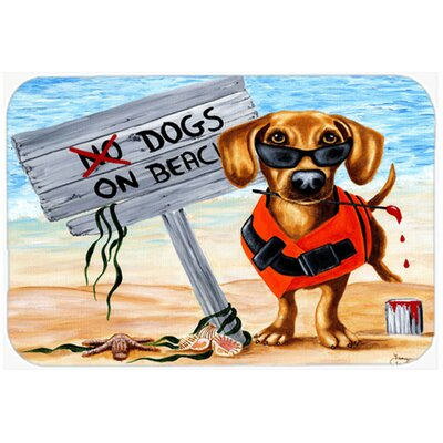 The Dog Beach Dachshund Kitchen/Bath Mat Size: 20 W x 30 L