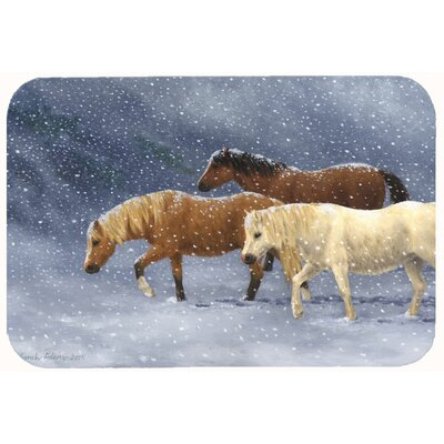 Seeking Shelter Horses Kitchen/Bath Mat Size: 24 W x 36 L