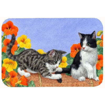 Kittens on Wall Kitchen/Bath Mat Size: 24