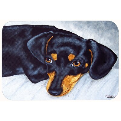 Doxie Dachshund Kitchen/Bath Mat Size: 24 W x 36 L