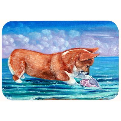 Corgi Sea Shell Find Kitchen/Bath Mat Size: 24 W x 36 L